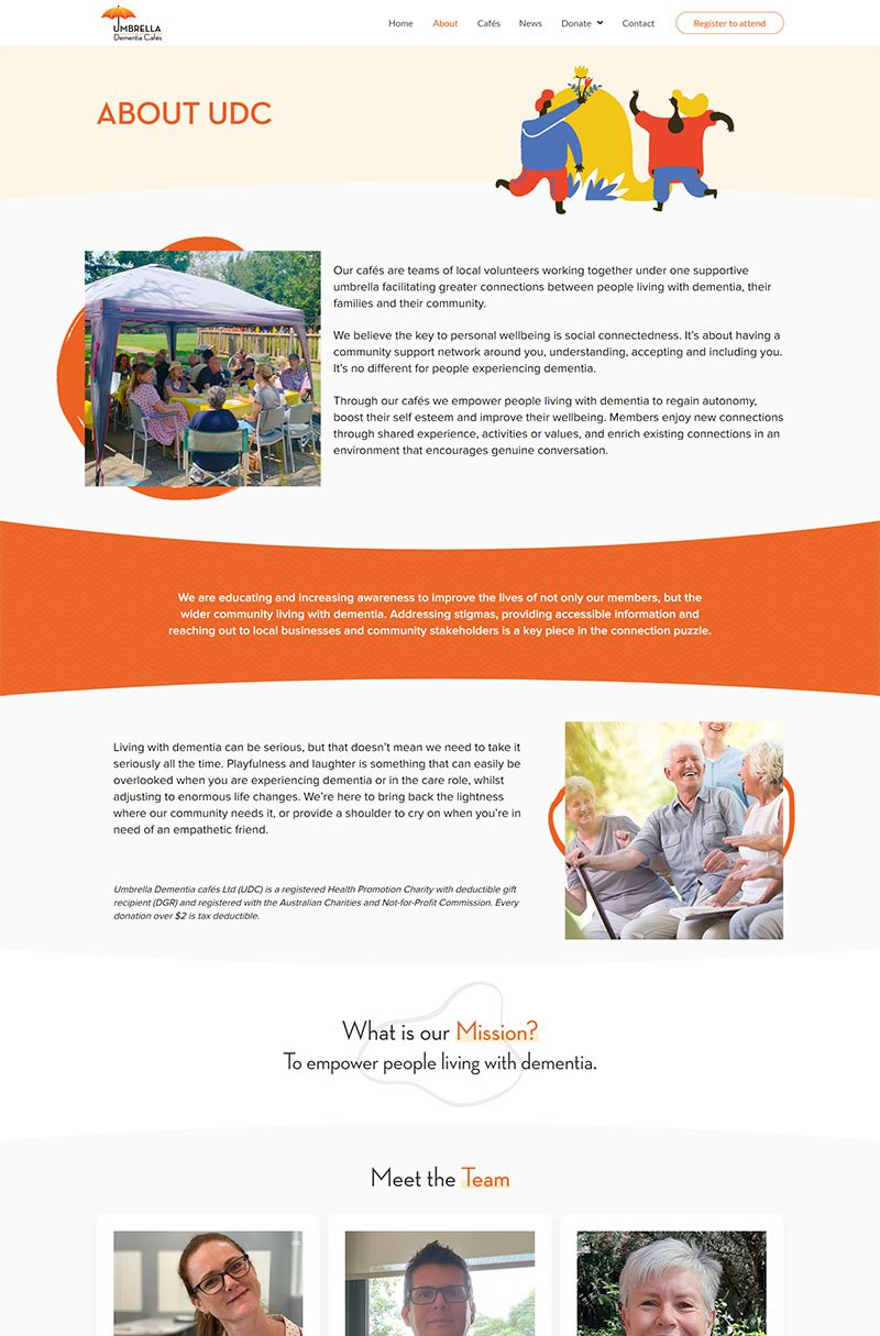 second layout for Umbrella Dementia Cafes