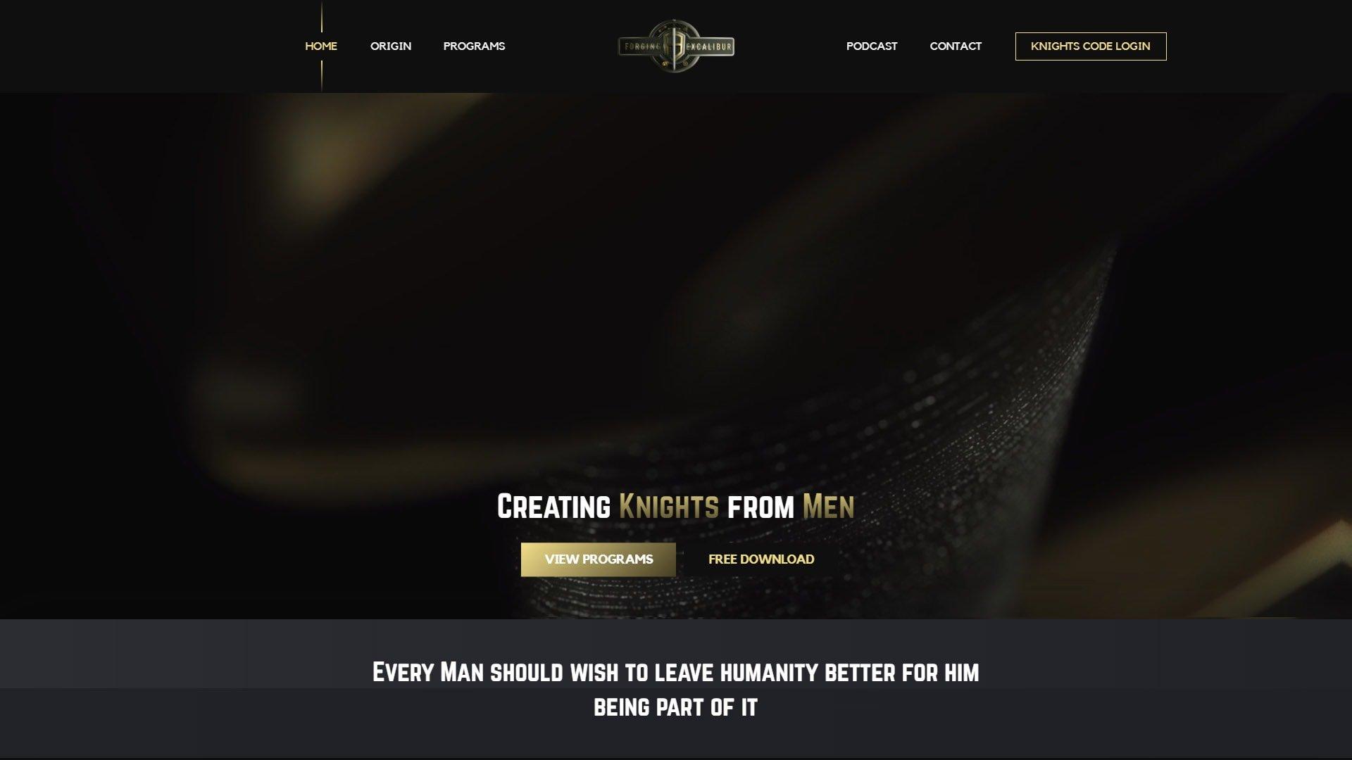 desktop screenshot of Forging Excalibur