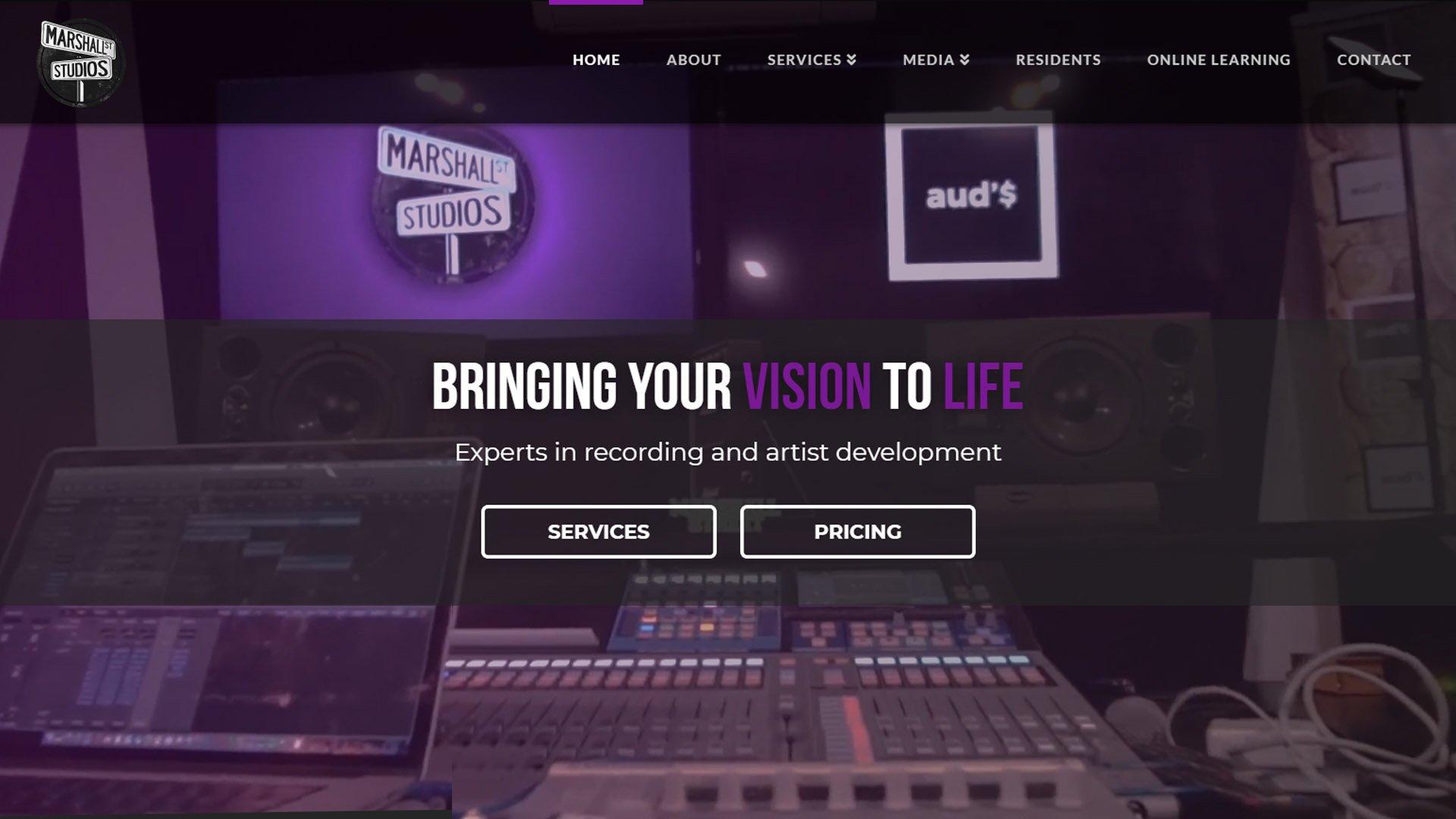 desktop screenshot of Marshall Street Studios