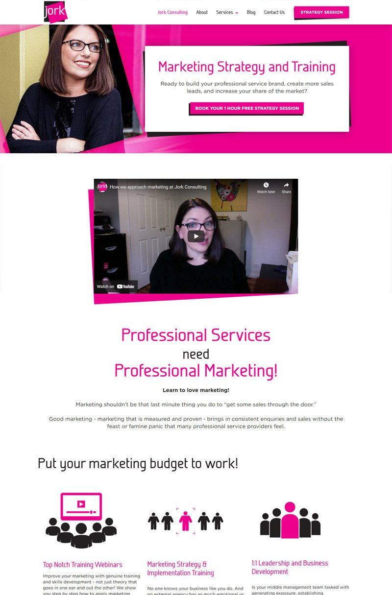 second layout for Jork Consulting