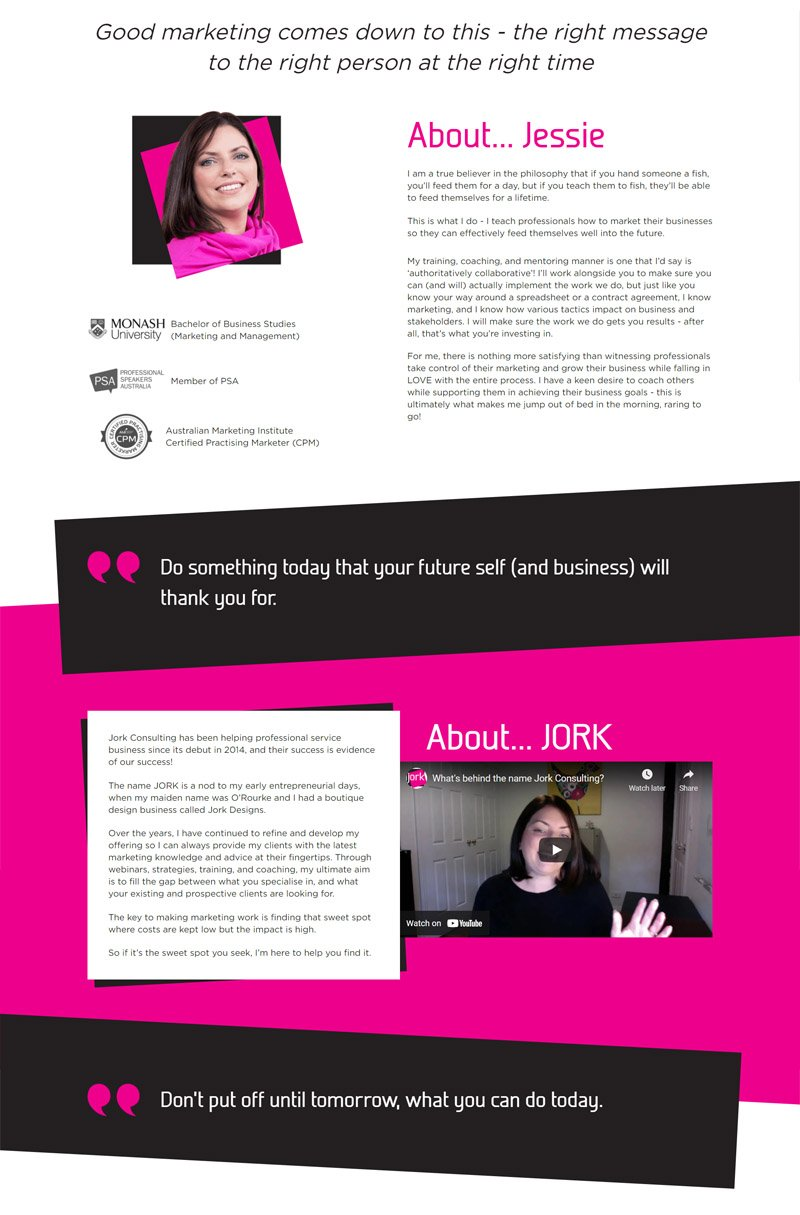 third layout for Jork Consulting